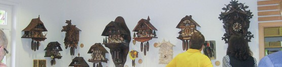 "The search for the ""Cuckoo Clock of the year 2015"" at the hiking information center in Baiersbronn"